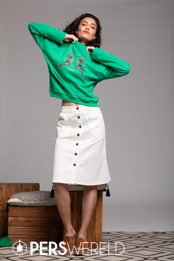 Feyona Skirt en Nova Sweater - elementsoffreedom