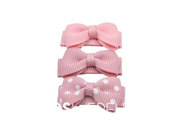 Baby haarspeldjes strik pretty pink
