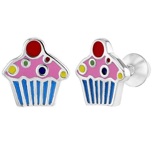 Kinder oorbellen cupcakes