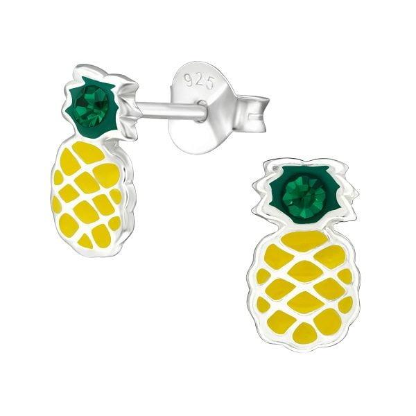Kinder oorbellen ananas