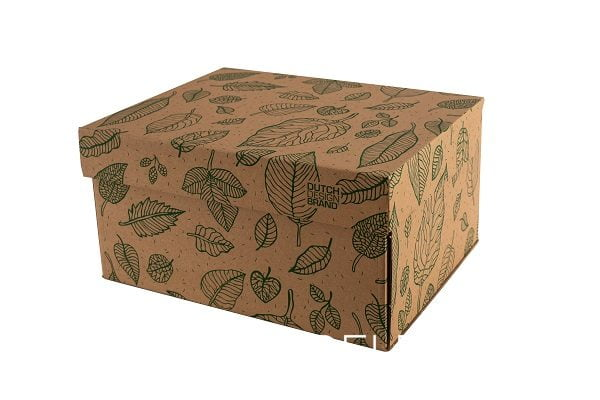 Dutch Design Storage Box Natural Leaves