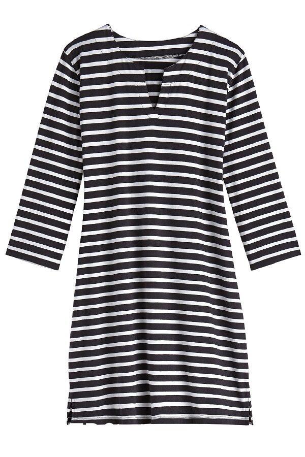 UV-jurk met streep zwart/wit