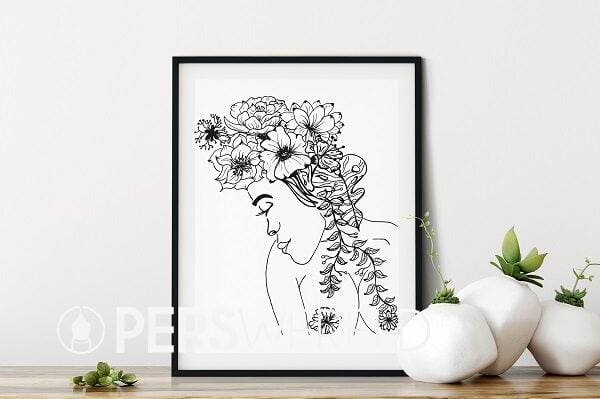 cecielmaakt-print-woman-line-drawing