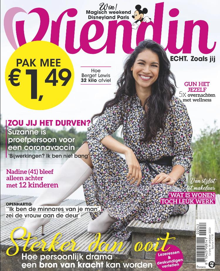 Tijdschrift Vriendin 42 cover - oktober 2020