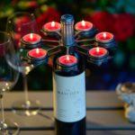 Wijnfleskandelaar DineLight TULP cool - dinelight.nl