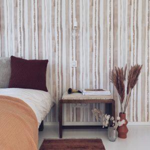 Behang Stripes Nude - roomblush.com
