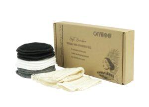 Wasbare bamboe make-up pads met zakje - cayboo.nl