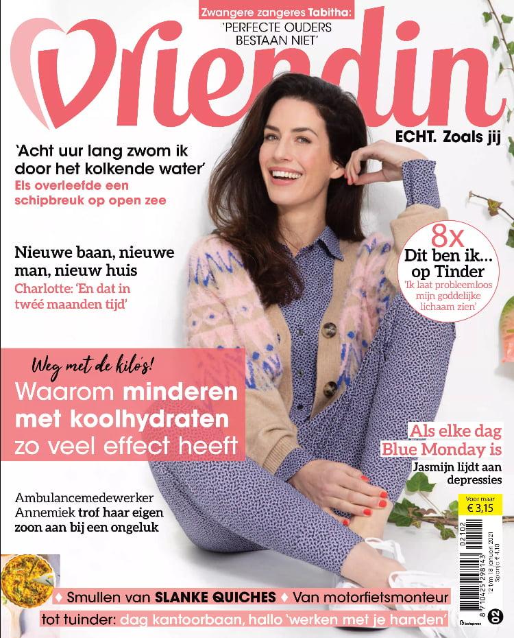 Tijdschrift Vriendin 2 cover - januari 2021