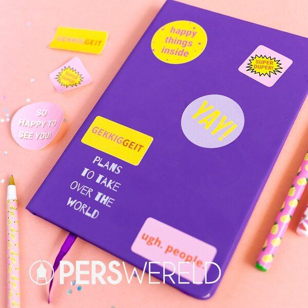 gekkiggeit-notitieboek-stickers